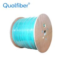 Mini Braiding Spiral steel tube with double sheath and kevlar Fiber optic cable