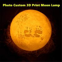 Personalized Photo Night Light | Customized 3D Printing Moon Light USB Charging Moon Night Lamp