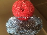 Double knitting lurex yarn