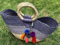 Handmade straw tote bags