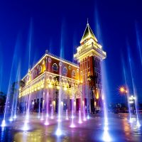 RGB LED Musical Dancing Dry Fountain
