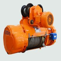 1t electric hoist lifting height 9m power supply 220v double speed steel wire rope electric hoist