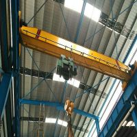 16t electric hoist double lifting speed single girder bridge crane