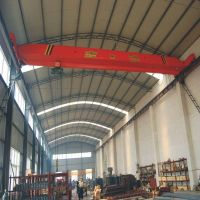 2t electric hoist double lifting speed single girder bridge crane