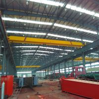 1t electric hoist double lifting speed single girder bridge crane