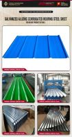 Galvanized aluzinc corrugated roofing steel sheet