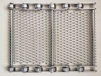 Chain driven wire mesh conveyor belt