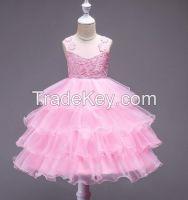 Children's Cotton Lining Sleeveless Party Princess Cake Skirt