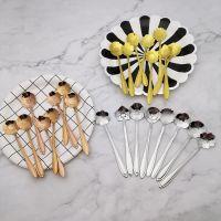 hot selling 2019 mixing spoons sugar spoons flower shape tea spoon stainless steel coffee spoon