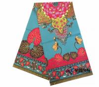 100% Cotton Java Plain Printed Wax Fabric