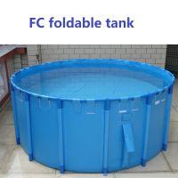 FC3010 3*1m Circular Aquarium Foldable Pool Koi Showing Tank with PVC Tarpaulin material