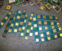 Ceramic cpu scrap for gold recovery and scrap motherboards
