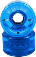 Light Blue Atom Pulse Outdoor Quad Roller Skate Wheels 78a 65mm X 37mm