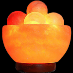Salt Bowl Lamp with Massage Ball.