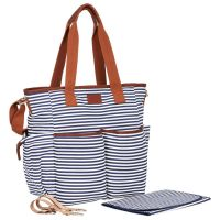 2019 new style stripe diaper bags