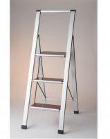Step ladder , 3 steps , foldable , aluminium ladder , MARONA 3 , stock lot Germany , stock clearance Germany