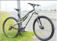 Adult folding variable speed dual shock absorption mountain bike