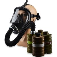High Quality MF14 Full Face Respirator Gas Mask Black Silicone Factory Manufacturer Direct Selling Military Quality