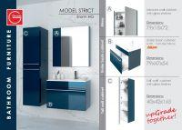 Bathroom furniture, made of MDF.