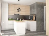 Kitchen fronts of different styles, colors, structure and many types of cabinets