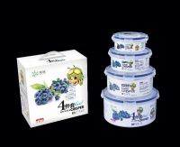 PP plastic food grade airtight round shape food container R-8810