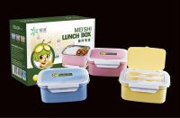 PP plastic plus 18/10 stainless steel holder airtight lunch box R-5104
