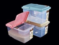 PP plastic clear rice container storage box