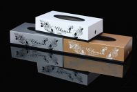 Plastic printing rectangular tissue box suitable for home and restaruant