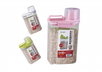 pp plastic cereal storage bottle and box with measure cup
