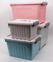 pp plastic storage box with wheels and different colors, home storage bins