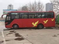 New Arrival Yutong Brand Used Coach Bus Diesel 39 seats Red 2013 Year Manual Transmission