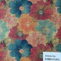 Floral Cork Fabric for Garment/Apparel Cork Cloth for Gift Box Packing