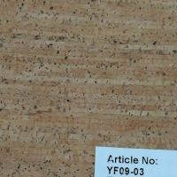 Flexible Cork Fabric for Packing Use Cork PU leather