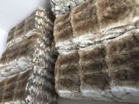 .Natural Heather (Brown) Color rabbit fur plate    RP01-H