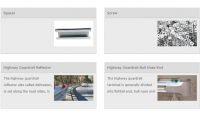 Hot Galvanized Highway Guardrail Accessories