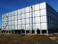 High quality hot dipped galvanized steel agriculture water storage tank price