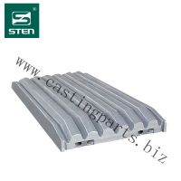 PE-900 Jaw Crusher Parts include fix jaw plate,swing jaw plate,toggle plate,bearing and bolts