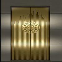 Stainless steel elevator decoration