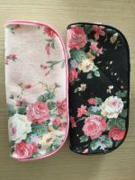 Fashion canvas children pencil case cute flowers pencil case small bag