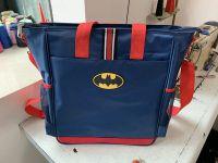 Fashion style Navy Blue bat sign backpack popular soft unisex backpack