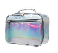2019 fashion style cooler bag  outdoor tote laser silvery cooler bag