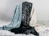 Silver Gold Stamping Flannel Blanket