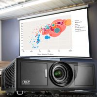 iNproxima DLP 4K Laser Projector Supported, K-1000-WU, Laser Lens Projector 1080p with High Brightness 8500 Lumen