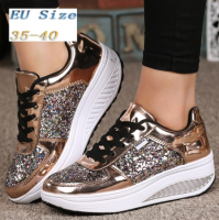 Women Sneakers Sequins Shake Shoes Fashion Girl Sport Shoes Fitness Shoes(