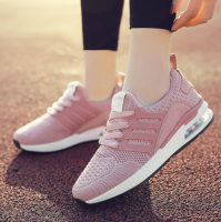 Womens Mens Breathable Mesh Sport Shoes Outdoor Flyknit Air Cushion Running Sneakers For Couples Tennis Shoes