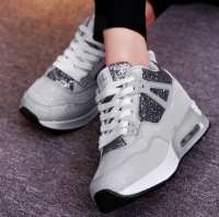 Womens Casual Breathable Shoes Increased Shoes Leisure Sneakers Comfortable Shoes Fashion Running Sport Shoes