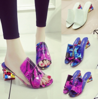 Summer Women Fashion Shoes Breathable Sandals Diamond The Rough Sandals Slippers