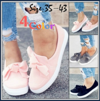 Fashion Cute Women Shoes Bow Tie Lace Up Flats Flat Shoes Summer Casual Loafers