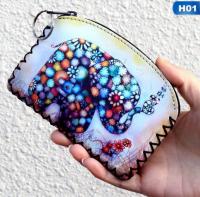 New Graffiti Cat Elephant Owl Coin Purse Change Purse Card Holder Handmade Hem Wallets Purse Women Clutch Zipper Coins Bag Pouch