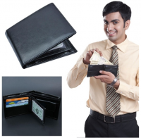 Men Wallets Genuine Leather Short Wallet Male Business Purse Card Holder Large Capacity